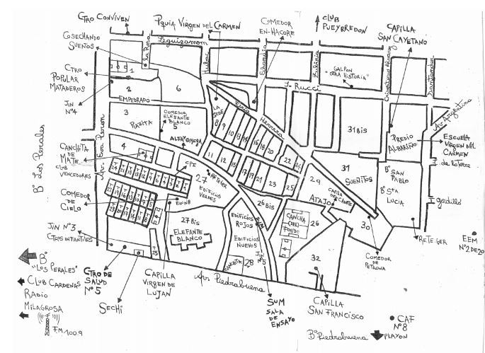 Mapa de los Barrios